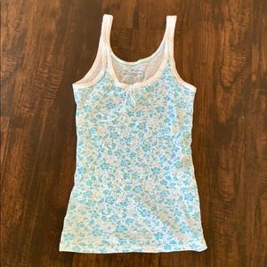 Blue Floral American Eagle Tank Top
